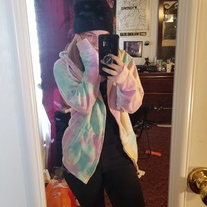 Multicolored Hooded Jacket